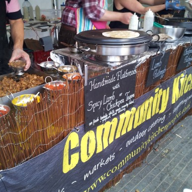 Community Kitchen at Real Food Market, Southbank, London