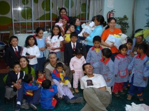 Orphans and staff at the orphanage