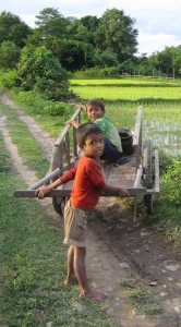 children in Vang Vieng