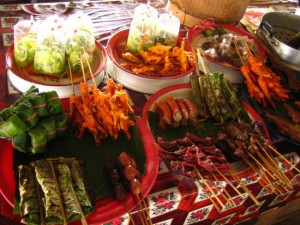 delicious local food in Vang Vieng