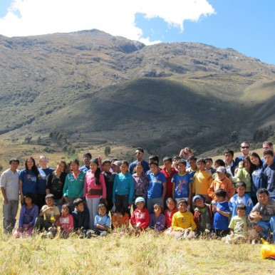 the group in Peru