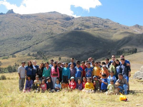 the group in Peru