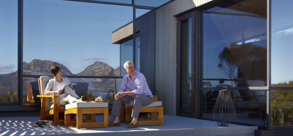 accommodation at the resort (pic courtesy of Saffire Freycinet)