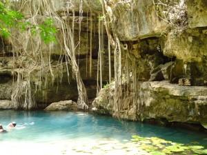 natural pools Hotel Xixim, Mexico