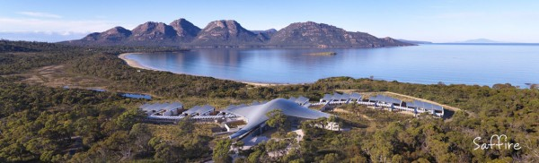 the resort location (pic courtesy of Saffire Freycinet)