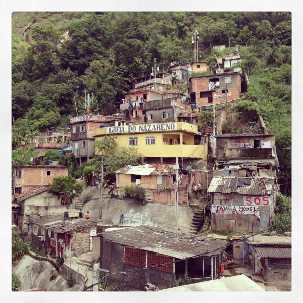 At the top of the Santa Marta community