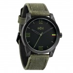 House of Marley watch, Billet Fabric green