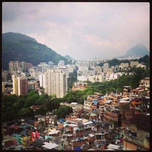 View from the top of the Santa Marta community