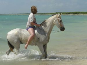 Horse riding at Lapa Rios, Costa Rica