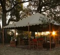 Tanda Tula field camp eating area