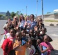 with local kids in Cape Town