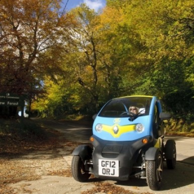 Twizy in the New Forest