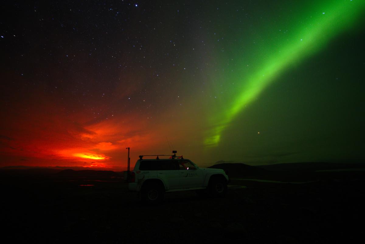 Iceland volcano sparks spectacular Northern Lights show