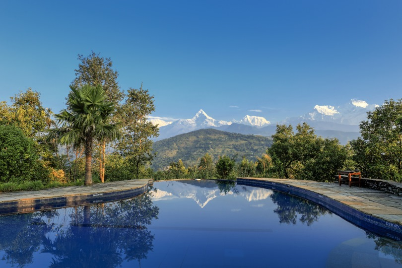 Enjoy the view from Pokhara Lodge, Tiger Mountain in Nepal