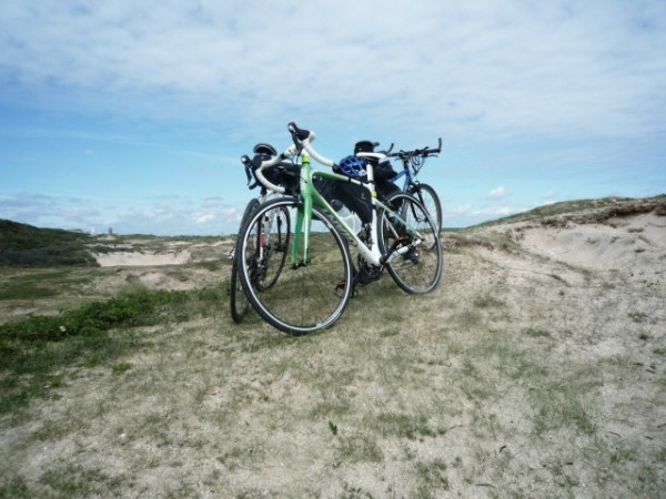 Beespoke Tours bikes on sand dunes in Holland