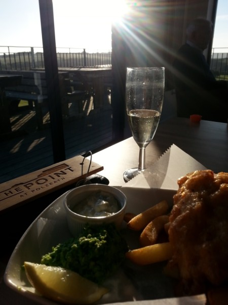 Fizz n Chips night at The Point at Polzeath