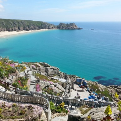 view from the Minnack Theatre, Porthcurno