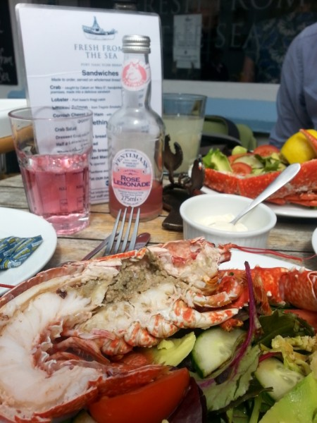 lobster salad at Fresh From The Sea, Port Isaac