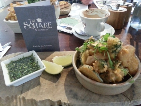 locally-caught seafood tempura at The Square at Porthleven