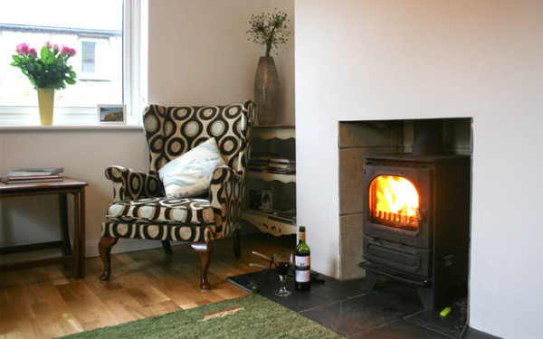 woodburner in Trenow cottage