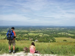 South Downs, view from Ditchling Beacon