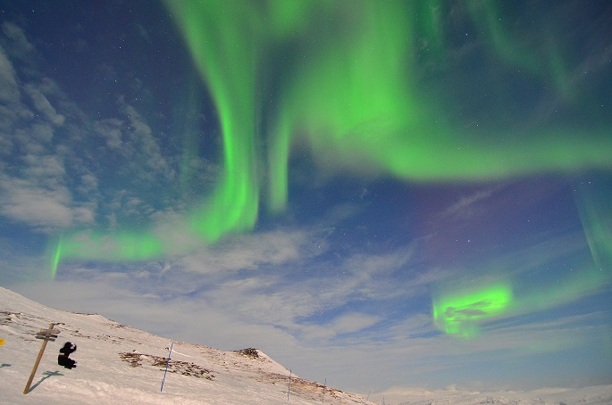 Alone with the lights (Chad Blakley, Lights Over Lapland)