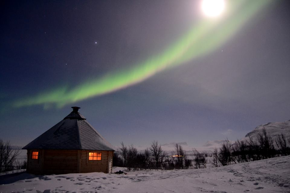 Aurora with the moon (Off the Map Travel)