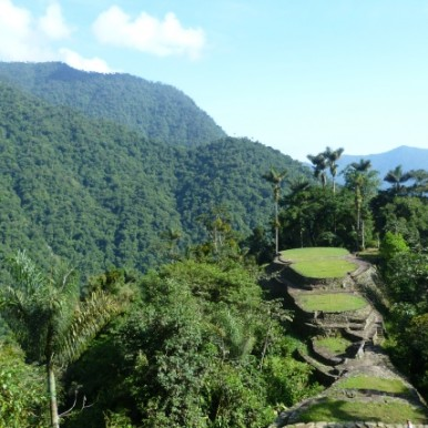 View over the stunning Teyuna, or Lost City in Colombia