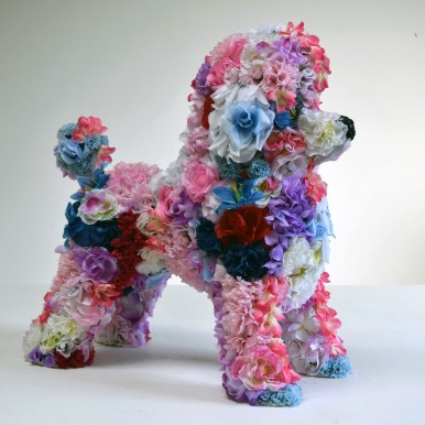 Robert Bradford, Flower Poodle, 2016 (Courtesy the artist and Rebecca Hossack Gallery)