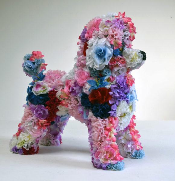 Robert Bradford, Flower Poodle, 2016 (Courtesy the artist and Rebecca Hossack Gallery)
