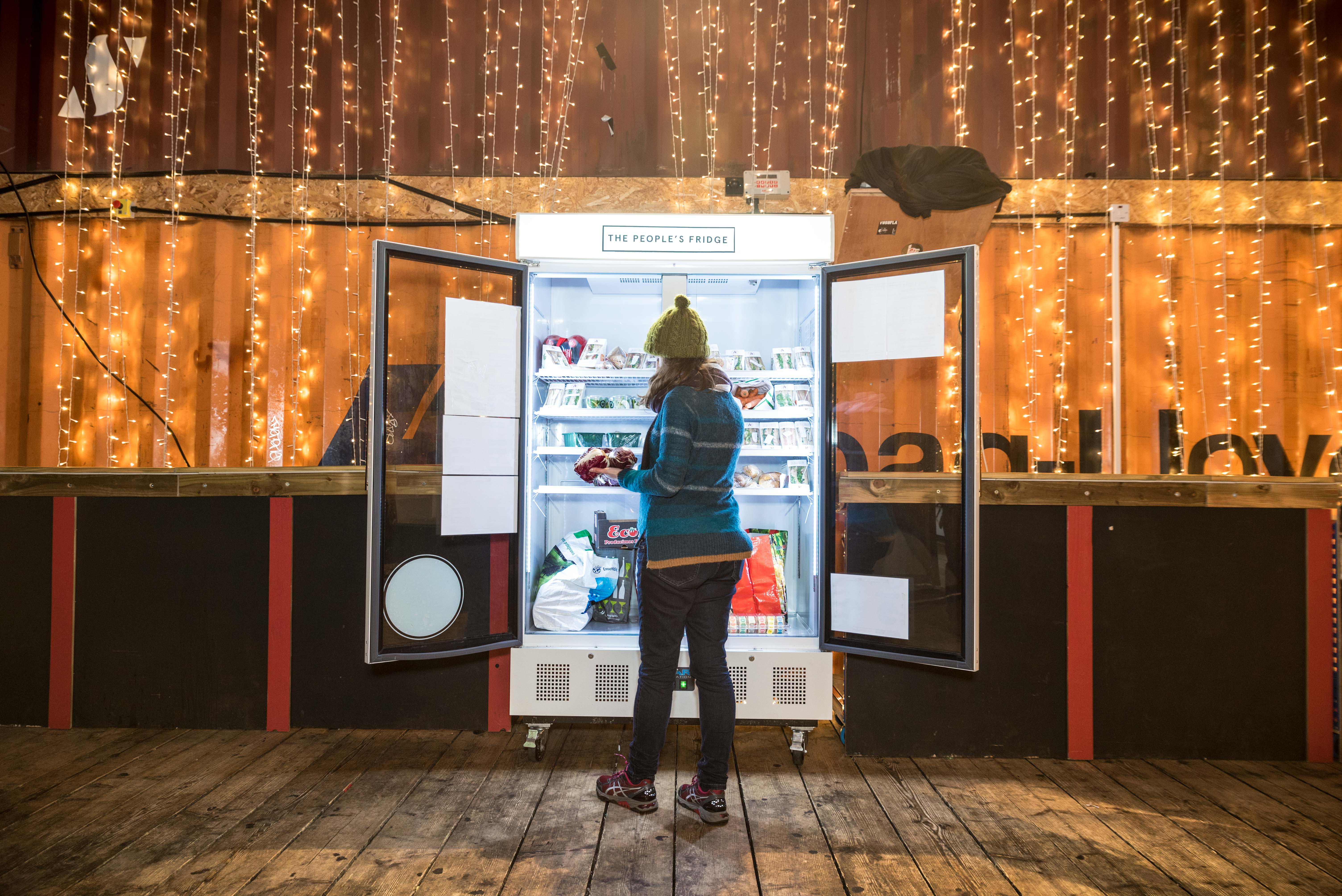 Cool! London opens doors on its first People's Fridge