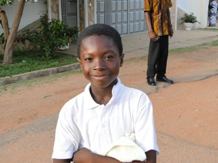 school child in Ghana