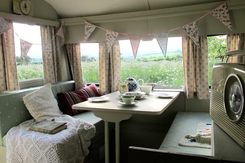 Inside Darcey caravan