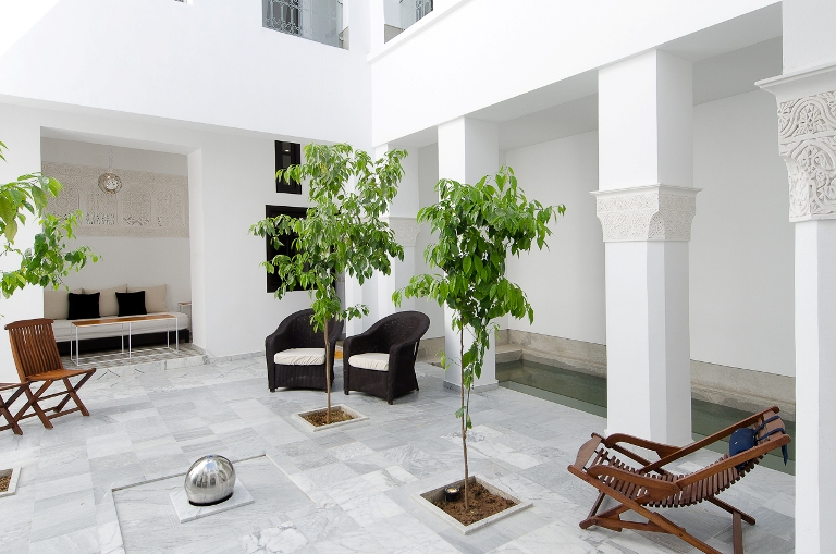 Eco chic at the new Riad Sapphire, Marrakech