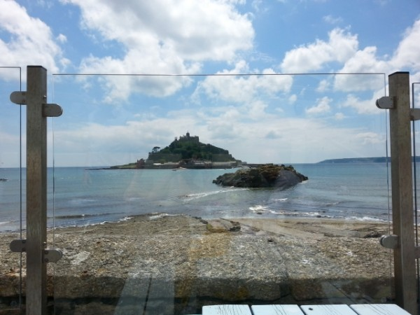 gaze at St Michael's Mount from The Godolphin Arms, Marazion