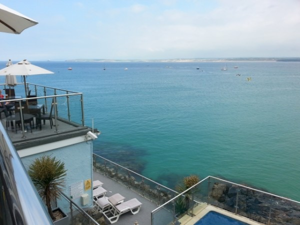 terrace view from Pend Olva, St Ives